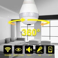 Home Security Wi Fi Camera Mini P2P 960P 1080P Baby Monitor Led Panoramic 360 Degree Lamp