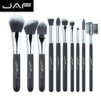 Free Shipping High Quality 10 Pieces Super Soft Taklon Hair Makeup Brush Set Golden Brush