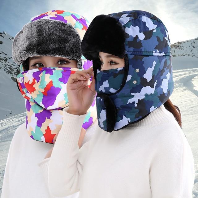 Donna Uomo Inverno Cappello Bomber Colbacco Colbacco Russo Cappello Con Le  Orecchie Russia Cap Pilota Paraorecchie 0ac993a9c1c0