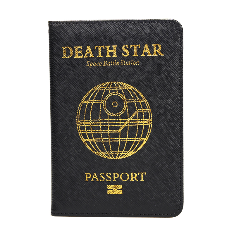 Dynamic Hequn Death Star Passport Cover Unisex Pu Leather Rfid Blocking Card Holder Star Wars Ultimate Weapon Ds-1 Passport Holder Case Luggage & Bags