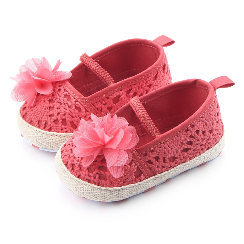 Dress Walking-Ballet Shoes Babe Soft-Soled Baby-Girl Mary Jane Knit Cute Summer Cradle