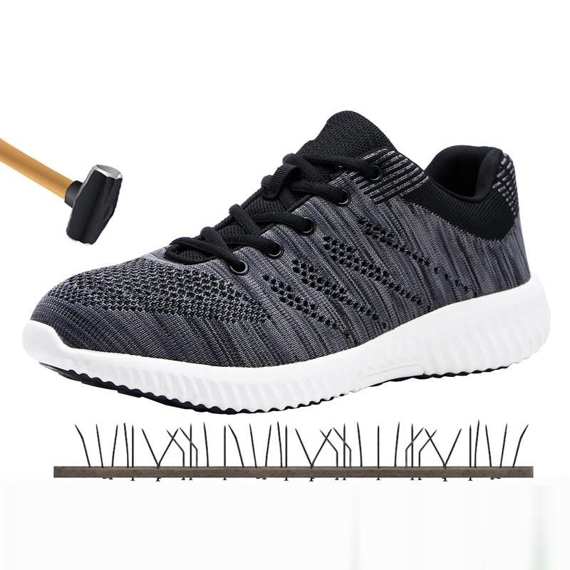 Males's Security Footwear Puncture Proof Metal Toe Cap Anti-Puncture Breathable Anti-Static Out of doors Footwear Water Repellent Sneakers