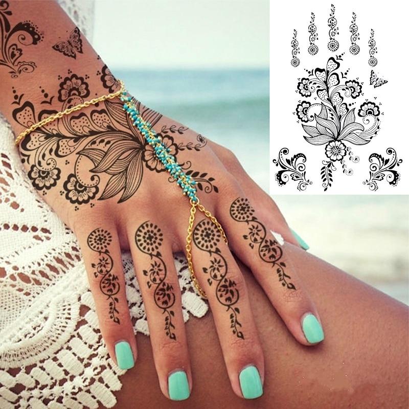 Les tatouages au henné noir les plus populaires autocollants - Tatouages et art corporel - Photo 4