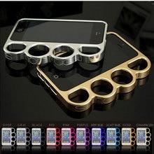 100% aluminium legering Voor iPhone 6 4.7 Bumper Fashion Lord Rings Knuckles Finger Phone Frame Case voor iPhone 6 plus