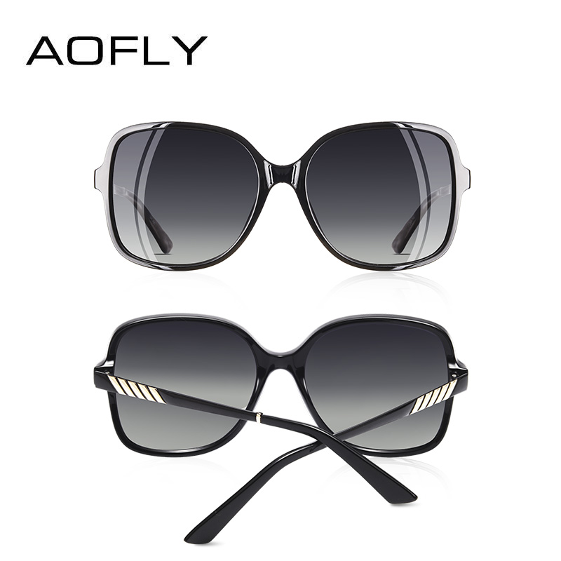 Image 5 - AOFLY Brand Design Elegant Sunglasses Women Oversized Frame Polarized Ladies Sun Glasses UV400 Eyewear Goggle Gafas De Sol A152-in Women's Sunglasses from Apparel Accessories