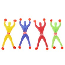 Children Love Interesting Sticky Elastic Spider Man Fun Stretchy Kids Toy Wall Climbing Super Hero Figure(China)