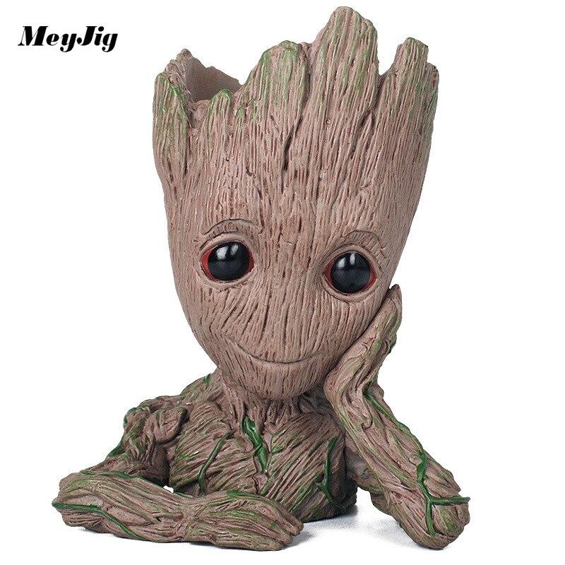 ПВХ Материал Творческий Дерево для горшок Фигурки Симпатичные игрушки модель Pen Пот Держатель разное Организатор Контейнер для хранения