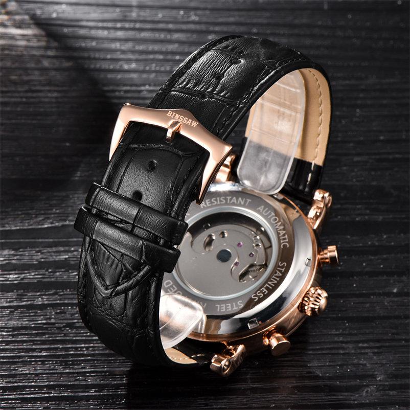 Najlepsze marki zegarków mechanicznych BINSSAW 2018 nowych zegarków - Męskie zegarki - Zdjęcie 3