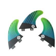 Surf FCS Fins G5 Surfboard Fin Honeycomb Fibreglass Green with Black Quilhas