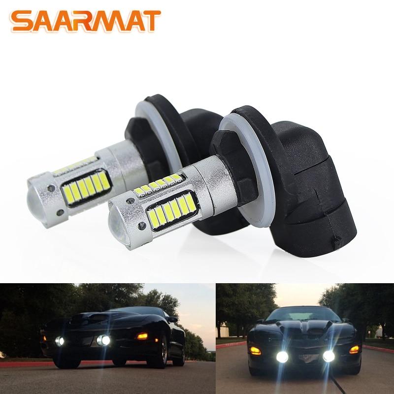 2x H3 55W High Power 4014 30SMD LED Yellow Orange Fog Driving DRL Light Bulbs US