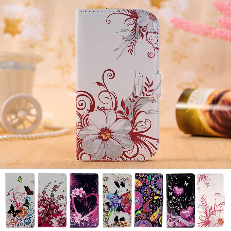 Luxury Flower Leather Wallet Case For <font><b>Sony</b></font> <font><b>Xperia</b></font> <font><b>E3</b></font> D2203 D2243 <font><b>E3</b></font> Dual <font><b>D2212</b></font> Shell Fundas Back Cover Stand Phone Bag Holder image