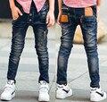 Masculinos pantalones vaqueros del niño de primavera 2017 niños pantalones de la ropa de moda salvaje pantalones de niño