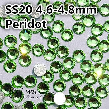 Více lesklý SS20 Peridot Non Hot Hot 1440pcs ploché sklo stroje - Umění, řemesla a šití