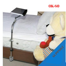 OK Tray Bedside Keyboard Holder Folding 360 Degree Rotation Free Lifting Swivel Tilt TV Mount Bed Edge Clamping OK-80