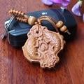 1 unid Nueva moda tallado de madera preciosa doble fish llavero chaveiro llavero hallazgos para las llaves al por mayor de carpintería