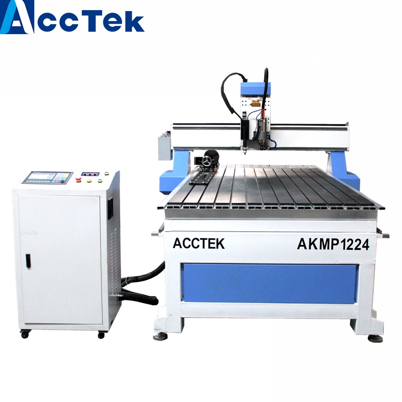Easy operate two functions cnc plasma cutting machine art design & cnc router accuracy AKMP1224