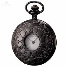 KS Negro Antiguo De La Aleación Caso Números Romanos de Visualización de Fecha Automática Hombres Steampunk Reloj Colgante de Los Hombres del Análogo de cuarzo Reloj de Bolsillo/KSP027