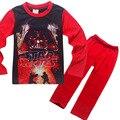 2017New Star Wars Мальчики Пижамы Наборы Весна Хлопок Рождественская Звезда войны Комплект Одежды Для Мальчиков Полный Рукав Рубашки Брюки Дети Clot