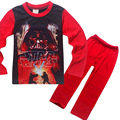 2017New Star Wars Boys Pajama Sets Spring Cotton Christmas Star Wars Clothing Set For Boys Full Sleeve Shirt Pants Children Clot