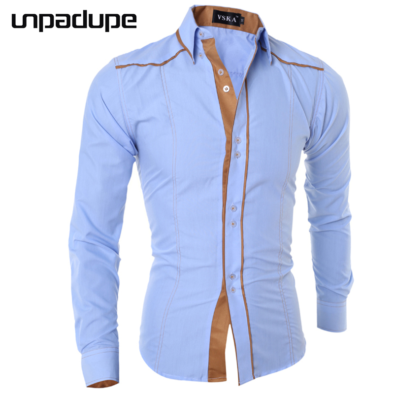Men Shirt Long Sleeve 2018 Brand Shirts Casual Male Slim Fit Solid Line Decorative Buttons Chemise Mens Camisas Dress Shirt Men ...