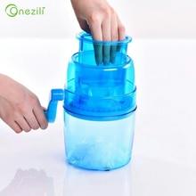 Handle Ice Crusher Manual Ice slush Maker homehold Snow Cone Smoothie Ice Block Making Machine Ice Shaver Food Blender