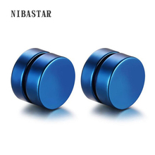 2016 The most popular 4pc Stainless Steel Magnetic Ear Stud Women's Cli