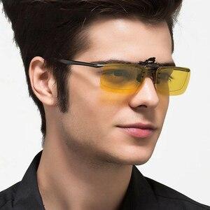 Image 2 - 2PCS Night Vision Polarized Sunglasses Clip Drive Sunglasses Goggles Resin Lenses Night Driving Glasses Car Accessories