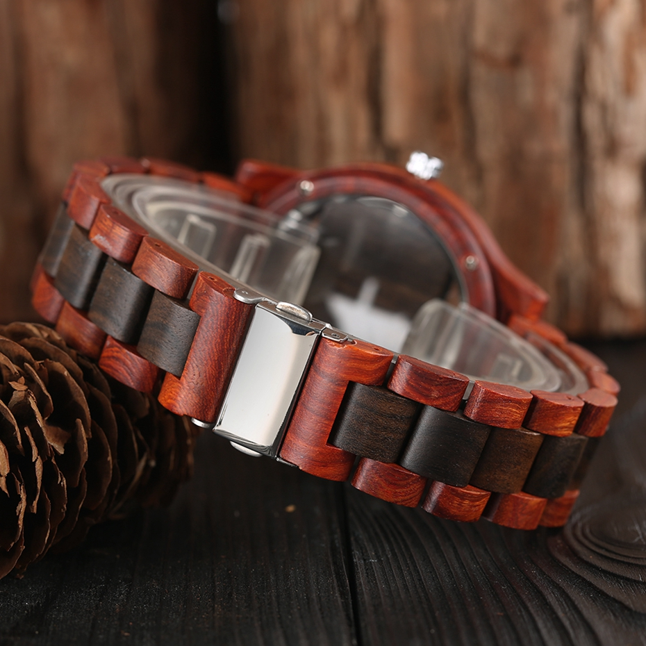 Top Luxury Full Bamboo Wood Quartz Watch Mens Hollow Analog Handmade Bracelet Sports Wristwatch Male Simple reloj de hombre 2017 2018 Gifts (10)