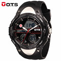 OTS Men Sports Watches Top Luxury Brand Quartz Fashion Digital Watch Men LED Military Waterproof Wristwatches Relogio Masculino