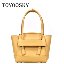 TOYOOSKY Bolsos Mujer 2019 Trapeze Tote Bag Luxury Brand Leather Women Handbag Shoulder Famous Designer Belt Clutches Sac