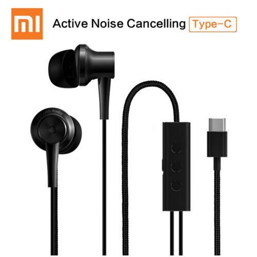 Xiaomi ANC Earphones Hybrid Type-C Mic Line Control Active Noise Cancelling USB-C for Xiaomi Mi6 MIX Note2 Mi 5s Plus Mi5 цена