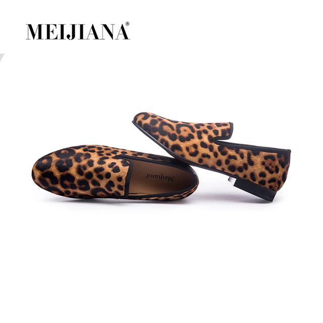 New Handmade Leopard Men Red Bottom Loafers Gentleman Luxury Fashion Stress  Shoes Party sequin shoes Men 247796bf28f7