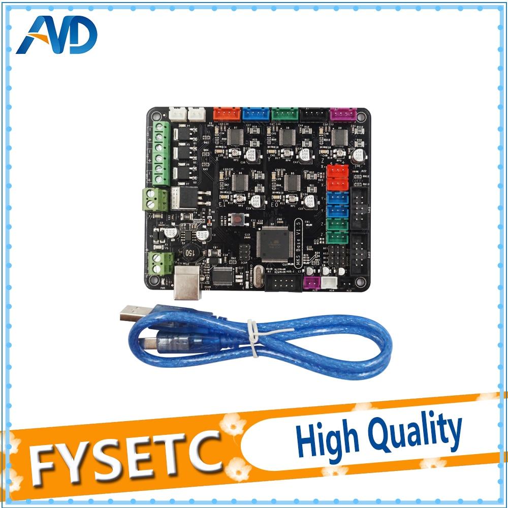 MKS Base V1.5 3D Printer Control Board With USB Mega 2560 R3 Motherboard RepRap Ramps1.4 Compatible For Prusa i3 3D Printer цена и фото