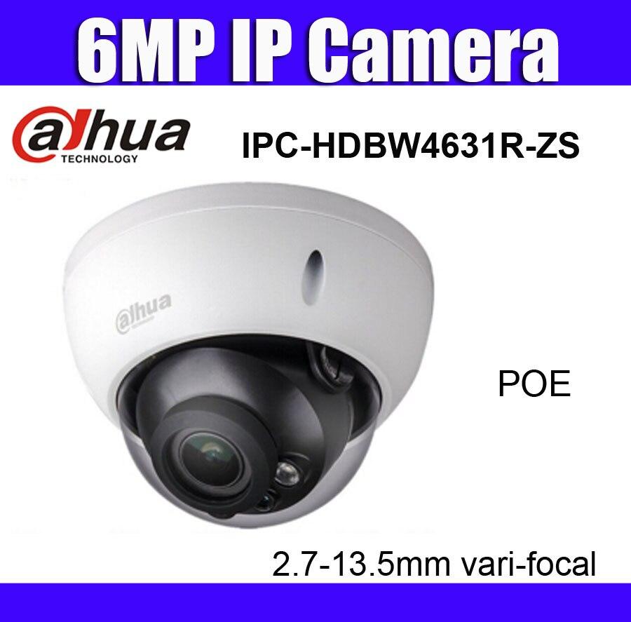 IPC HDBW4631R ZS 6MP poe IP Camera 2 7mm 13 5mm vari focal lens replace ipc