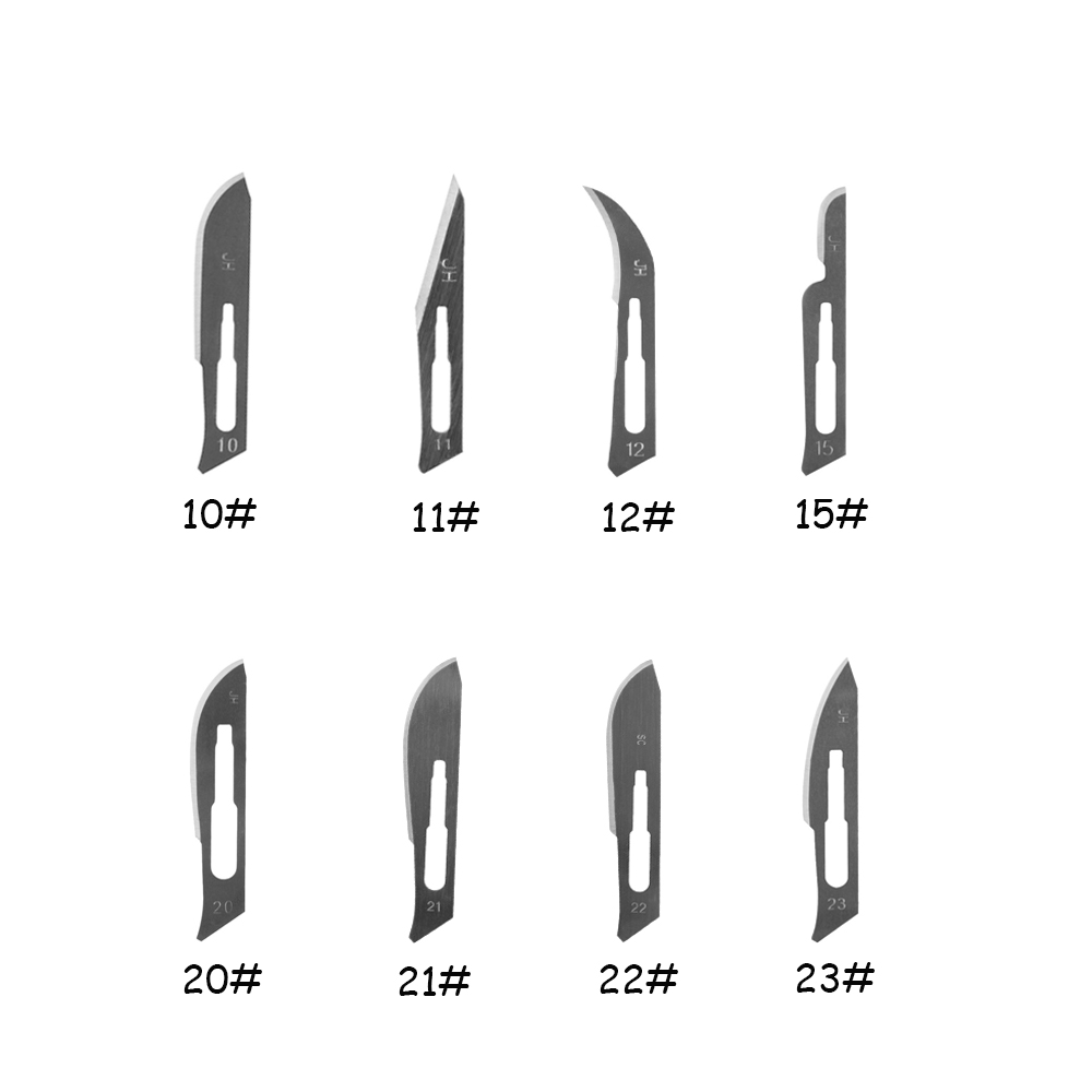 10 Pcs Surgical Knife Blade Replacement Scalpel With Replaceable Blades Multi-function Scrapbooking Crafts Carving Knife