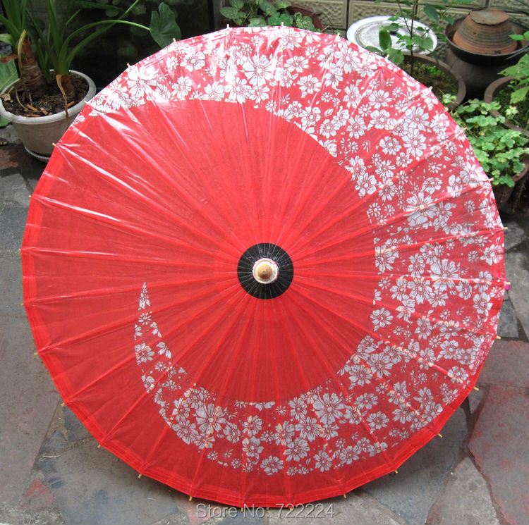 Dia 84CM Chinese Classical Handmade Japanese Cherry Oil Paper Umbrella Craft Retro Dance Decoration Parasol Cosplay Umbrella chinese japanese origami 3d paper craft book swan owl vase basket bicycle
