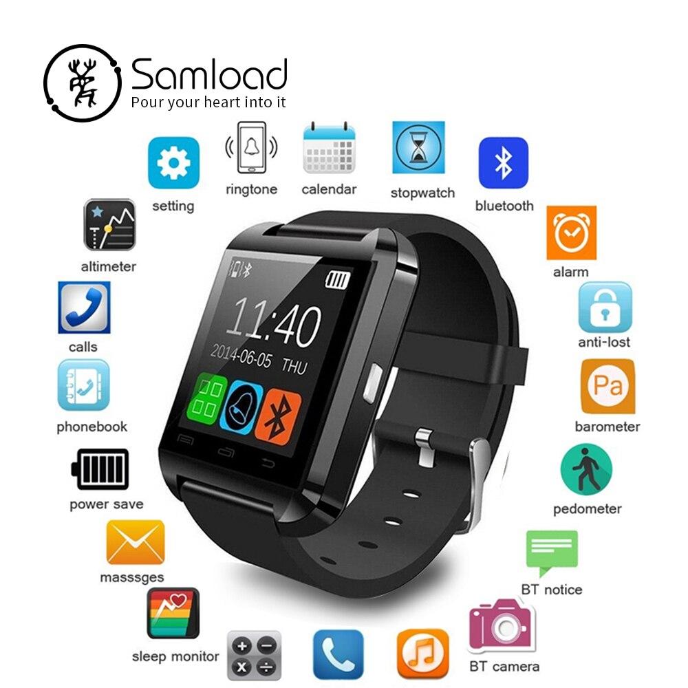 Samload reloj inteligente reloj de sincronización notificador apoyo conectividad Bluetooth para teléfono Android reloj inteligente PK GT08 DZ09 GV18 U8
