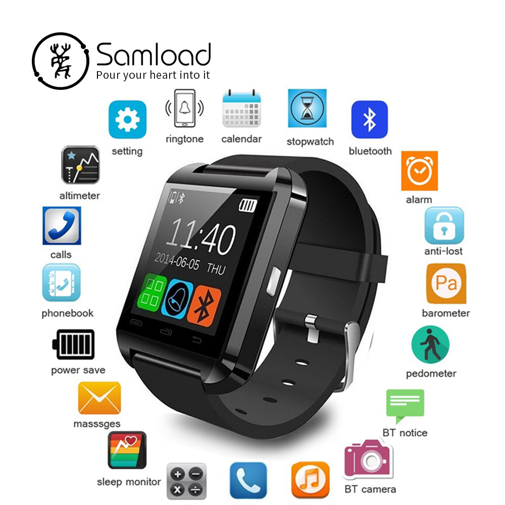 Samload Smart Watch Clock Sync Notifier Support Bluetooth Connectivity For Android Phone Smartwatch PK GT08 DZ09 GV18 U8 696 smart watch gt08 clock sync notifier support sim tf card bluetooth connectivity android phone smartwatch alloy smartwatch
