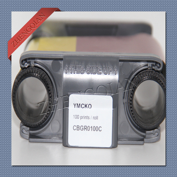 Evolis Badgy200 printer ribbon  CBGR0100C- YMCKO - 100 prints