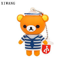 XIWANG cute bear type U disk memory stick Pendrive USB 2.0 4GB 8GB 16GB 32GB 64GB cartoon memory card flash drive holiday gift