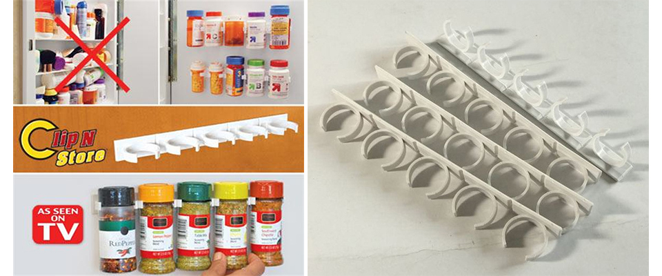 20 PC SET New Kitchen Clip Spice Gripper Jar Rack Storage Holder Wall Cabinet Door Storage Racks Kitchen Tools Bathroom Shelves (4)