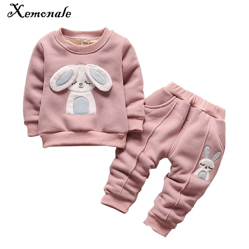 Xemonale Tracksuit For baby girls Clothes Sports Suit For girls Winter Clothing Set Girls Clothes Plus Velvet Thicken