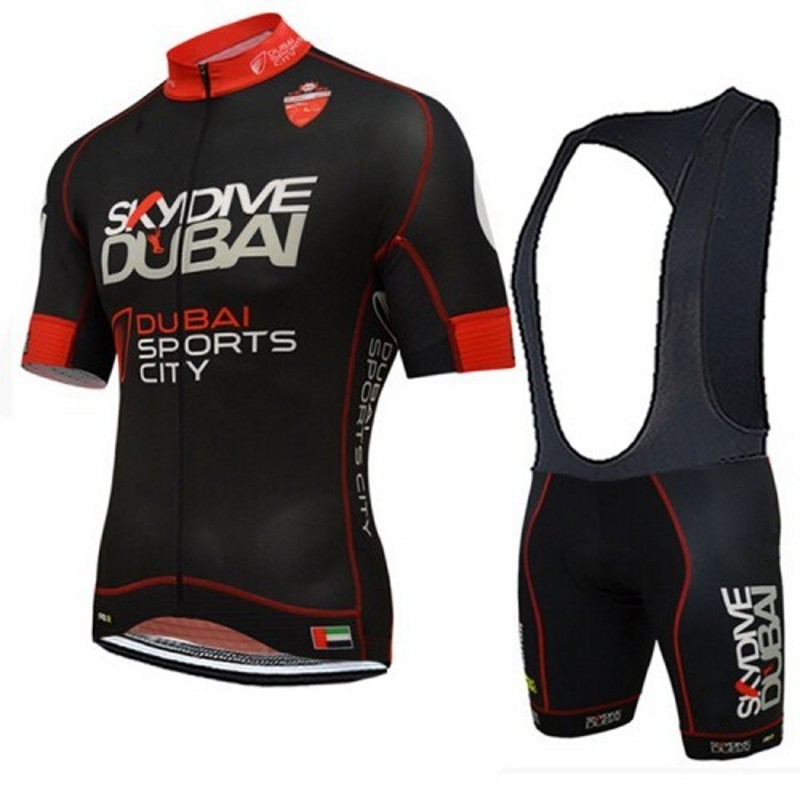 Pro team Skydive DUBAI cycling jerseys kits summer Bicycle maillot breathable MTB Short sleeve bike cloth Ropa Ciclismo gel pad 2017 cheji pro team mens ropa ciclismo cycling jerseys gel pad bib shorts short sleeve bike bicycle wear shirts black & red