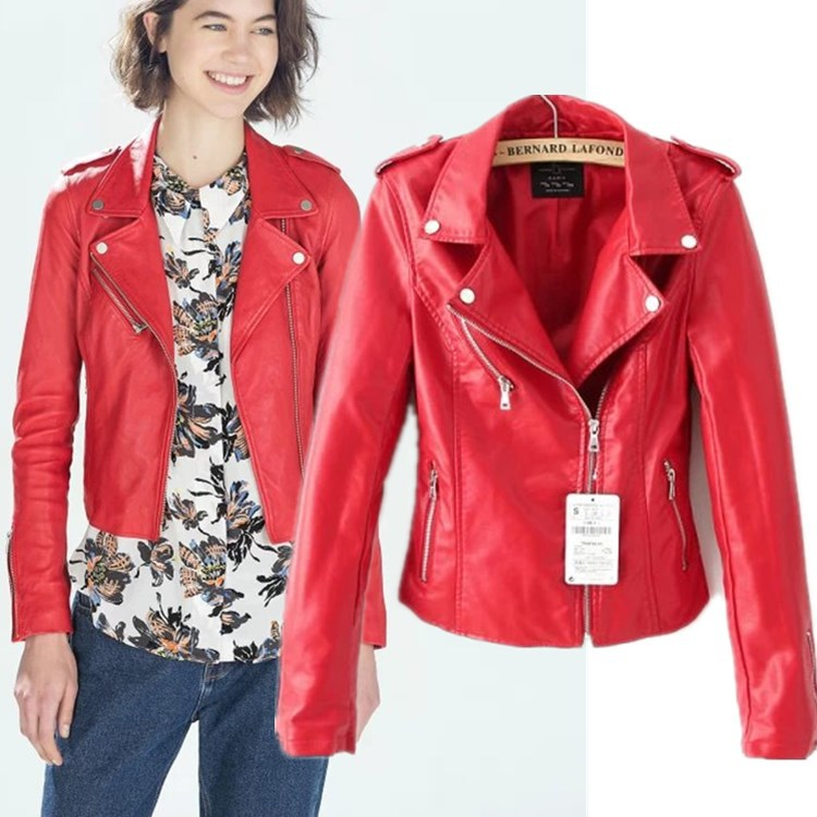 Red Leather Coat Womens - Coat Nj