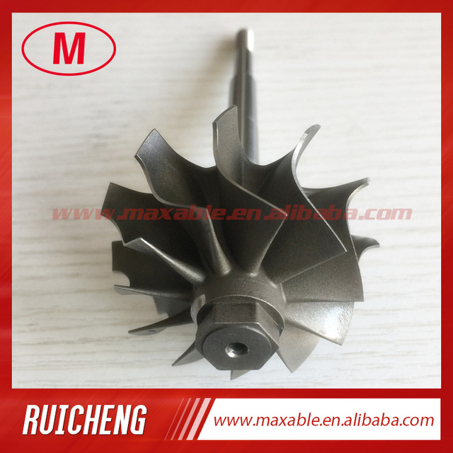 US $45 0 |GT2554R/GT2560R 41 70/53 00mm 11 blades ball bearing Turbo  turbine wheel shaft / turbine shaft&wheel 6 45mm tip height-in Air Intakes  from