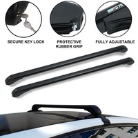 Professional Car Auto Roof Bars Luggage Rack Practical Anti Theft Lock Load Cargo Luggage Carrier 110CM Easy Fit