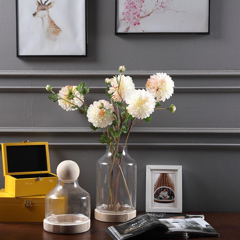 New Arrival 5 հատ WhiteDahlia Pompon Daisy Yellow Chrysanthemum - Տոնական պարագաներ