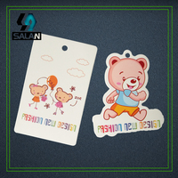 Wholesale Hang Tags Customize Garment Tags T Shirt Tags OEM Paper Swing Labels Free Hole Pre