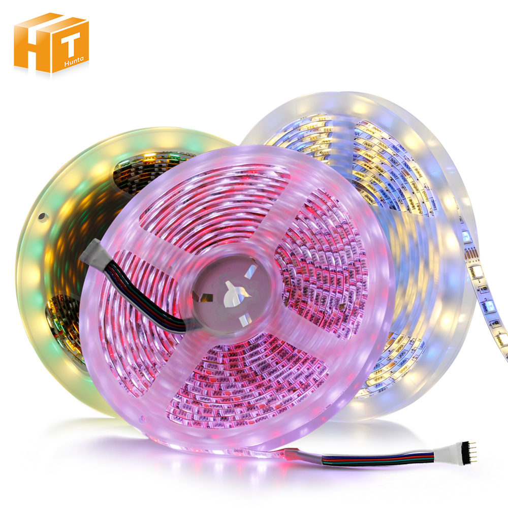 New arrived LED Strip 5050 RGBW DC12V / DC24V Flexible LED Neon Tape Light RGB+White / Warm White 60 /96 LEDs/m 5M/Lot