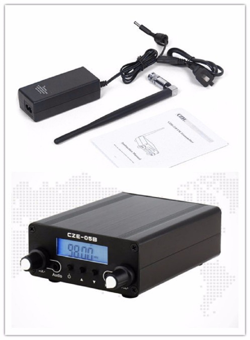 LCD Display PLL 76MHz 108MHz FM Long Range 0 5W FM Stereo Broadcast Home Transmitter Antenna
